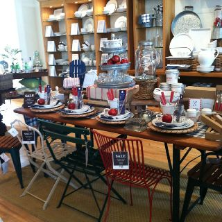 Pottery Barn tablescape for 4th of July and Labor Day