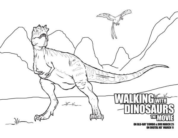 Free Printable Walking With Dinosaurs Coloring Sheet Dinosaur Coloring Sheets Dinosaur Coloring Walking With Dinosaurs