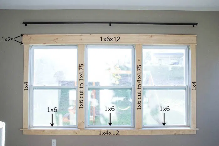 Remodelaholic Diy Craftsman Window Trim In 2020 Diy Window Trim Craftsman Window Trim Window Trim Exterior