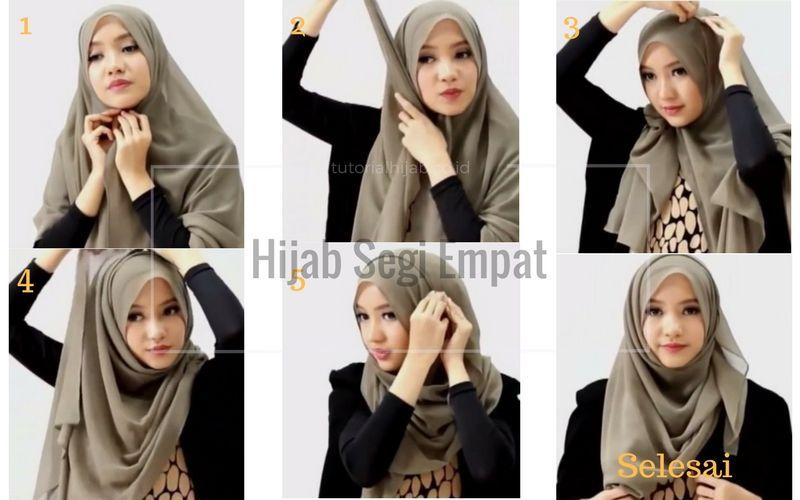 Tips Cara Memakai Hijab Segi Empat Super Cepat Hijab