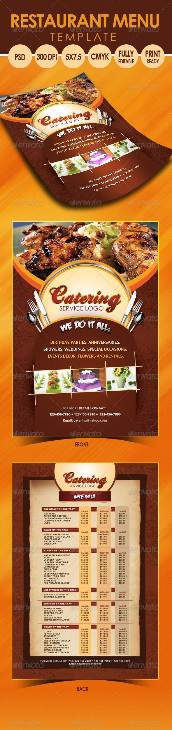 Catering Menu Template Flyer Pinterest Catering Menu Menu - Catering menu design templates