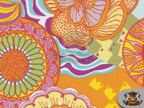 Printed Indoor Outdoor Waterproof Kaleidoscope Multi Fabric 54 Wide Sold Bty Printing On Fabric Fabric Empire Waterproof Fabric