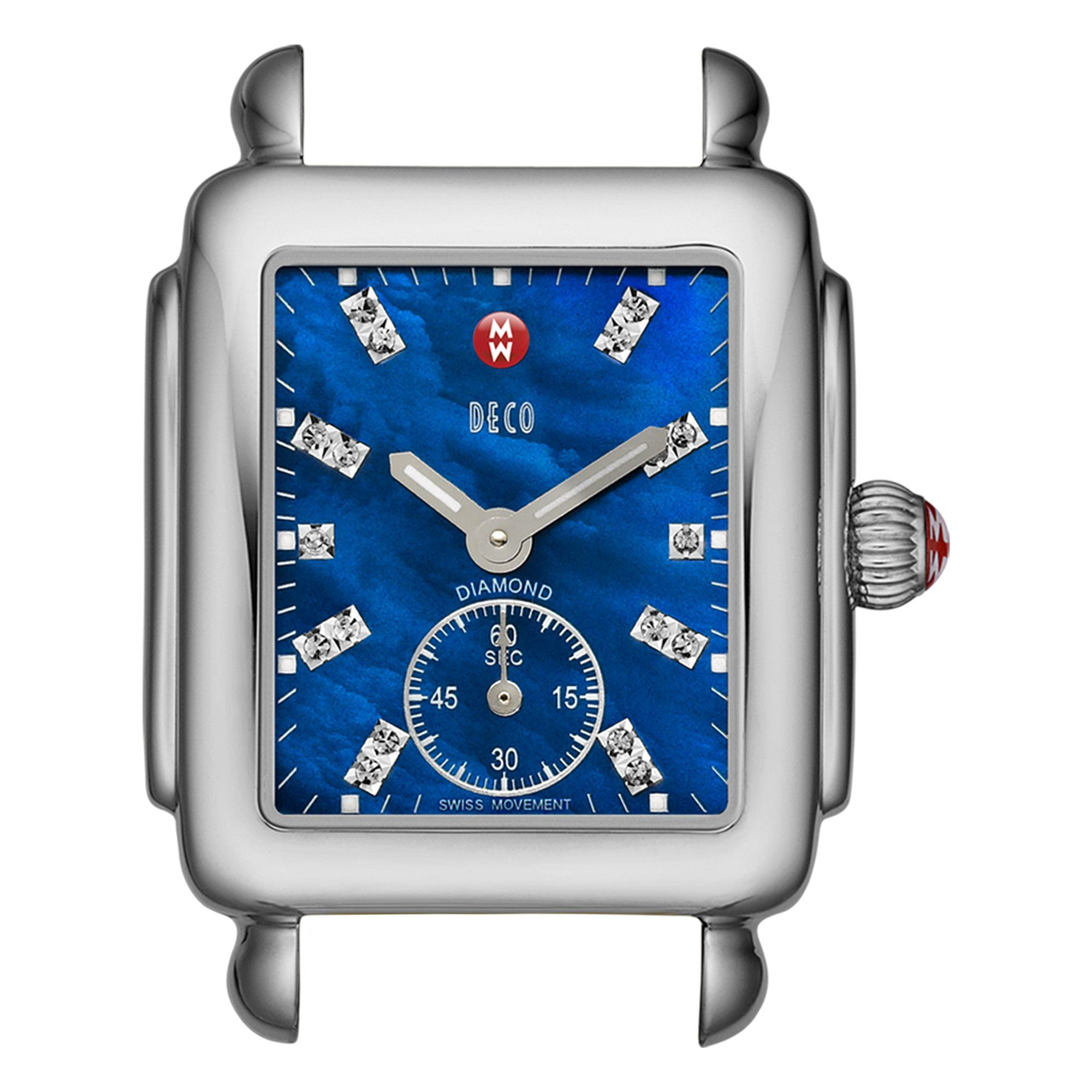 Deco Mini Blue Diamond Dial Stainless Steel Watch