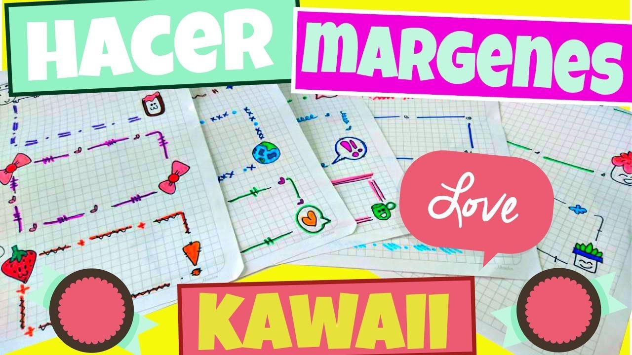 hacer margenes kawaii Sarish | bordes y portadas | Pinterest ...