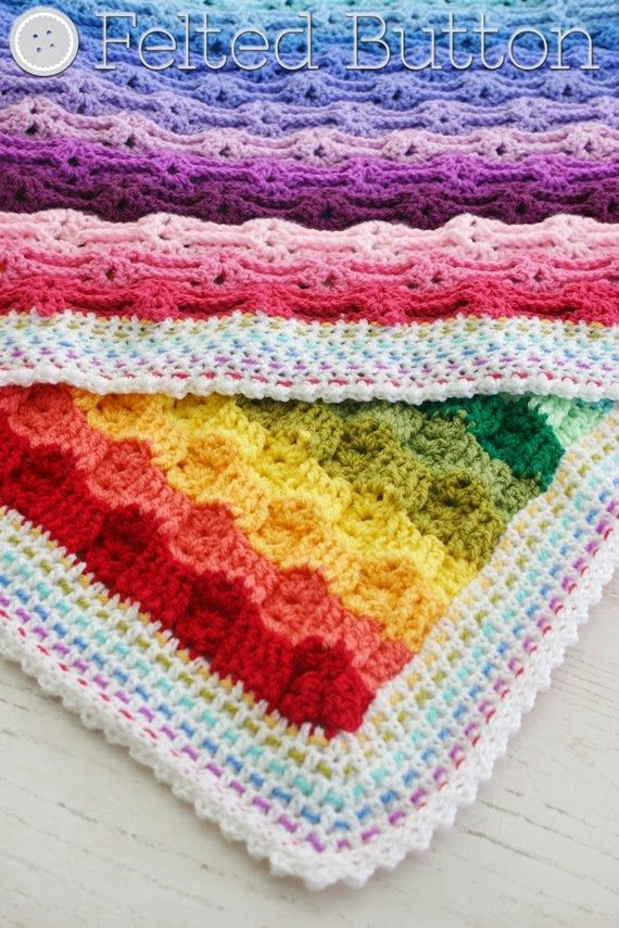 Felted Button - Colorful Crochet Patterns: Wanna Chase a Rainbow ...