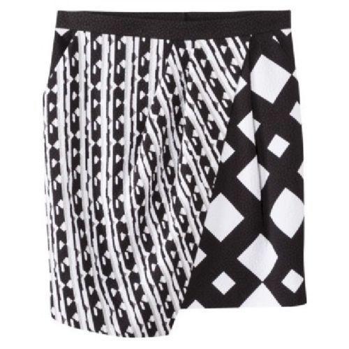 Peter Pilotto for Target Black & White Print Skirt Size 2 6 8 12 14 16