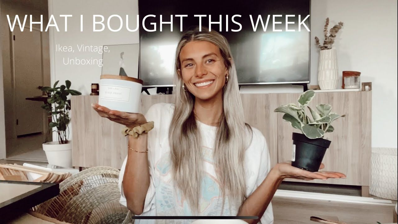 What I Bought This Week Ikea Vintage Unboxing Brandy Melville In 2020 Stuff To Buy Vintage Brandy Melville