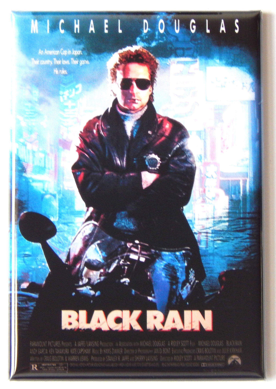 Black Rain Movie Poster Fridge Magnet