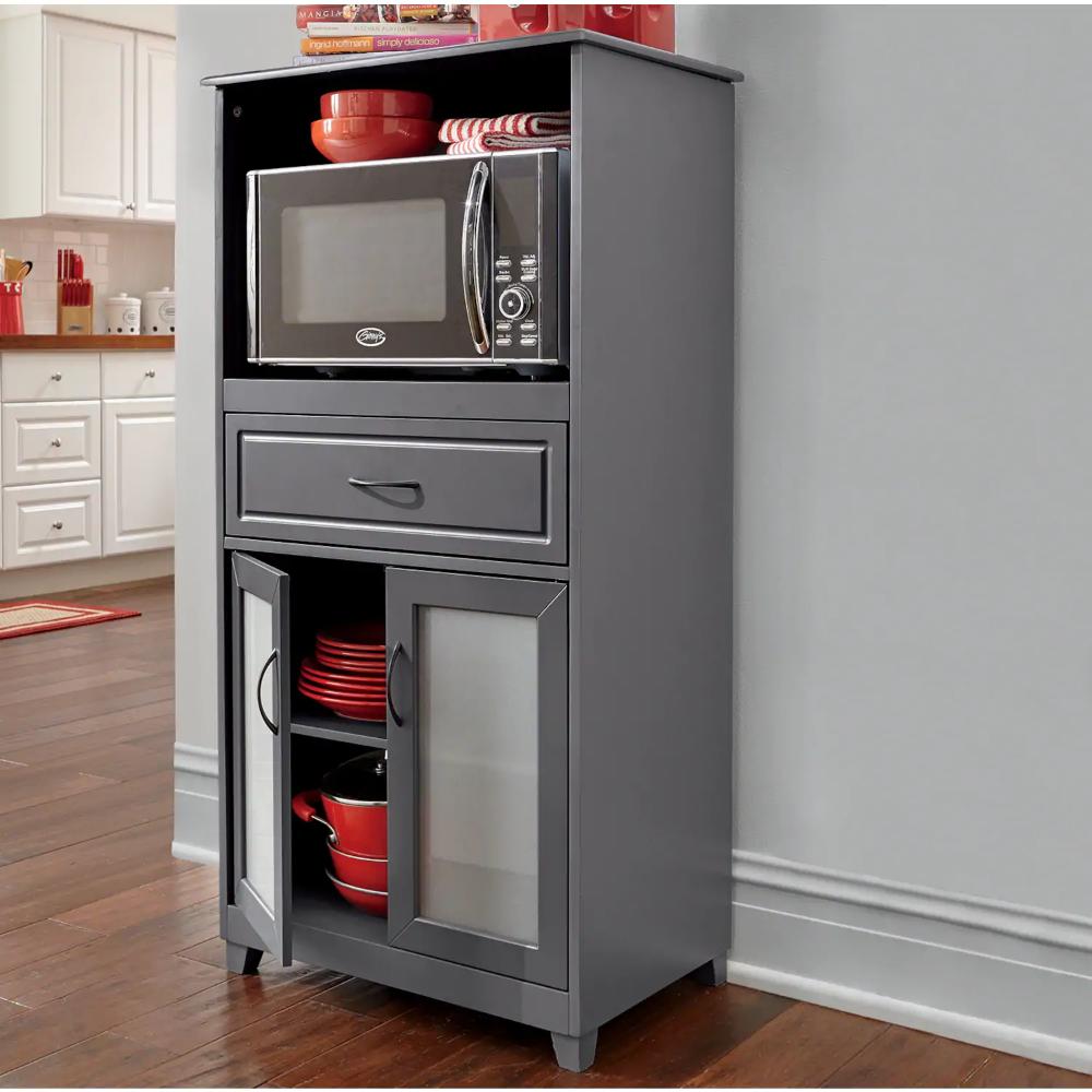Microwave Storage With Glass Door Cabinet Seventh Avenue Microwave Storage Glass Cabinet Doors Glass Door