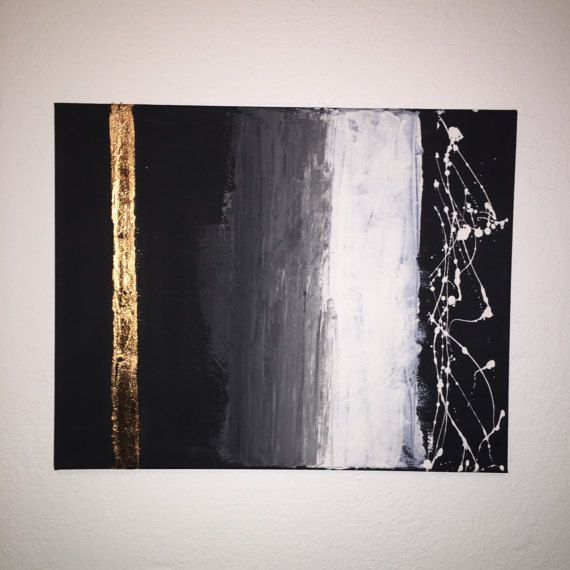 abstrakte Leinwand Kupfer in schwarz und weiß mit | Acryl ...