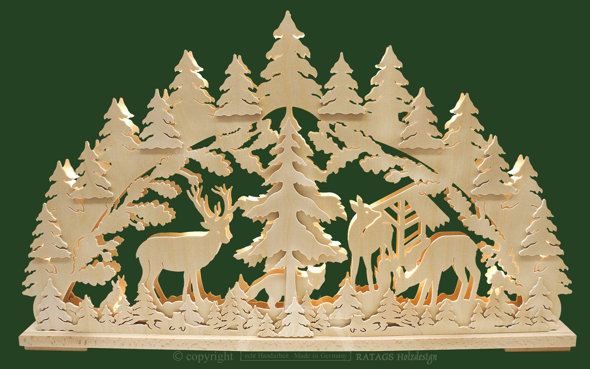 schwibbogen gr waldtiere  laubsäge vorlagen weihnachten