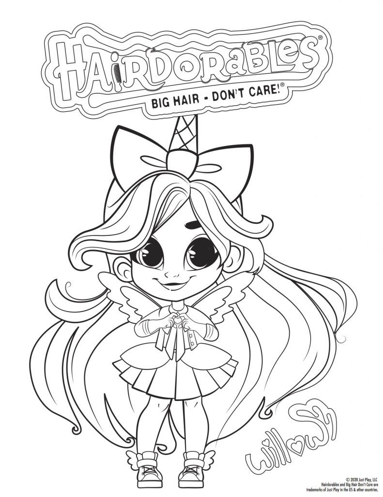 Hairdorables Each Doll Package Is A Surprise Just Pull Peel And Reveal 11 Accessori In 2021 Unicorn Coloring Pages Cute Coloring Pages Cute Animal Drawings Kawaii