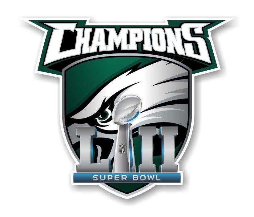 Philadelphia Eagles Champions Super Bowl 52 Decal   Sticker Die cut ... 3fc38028f
