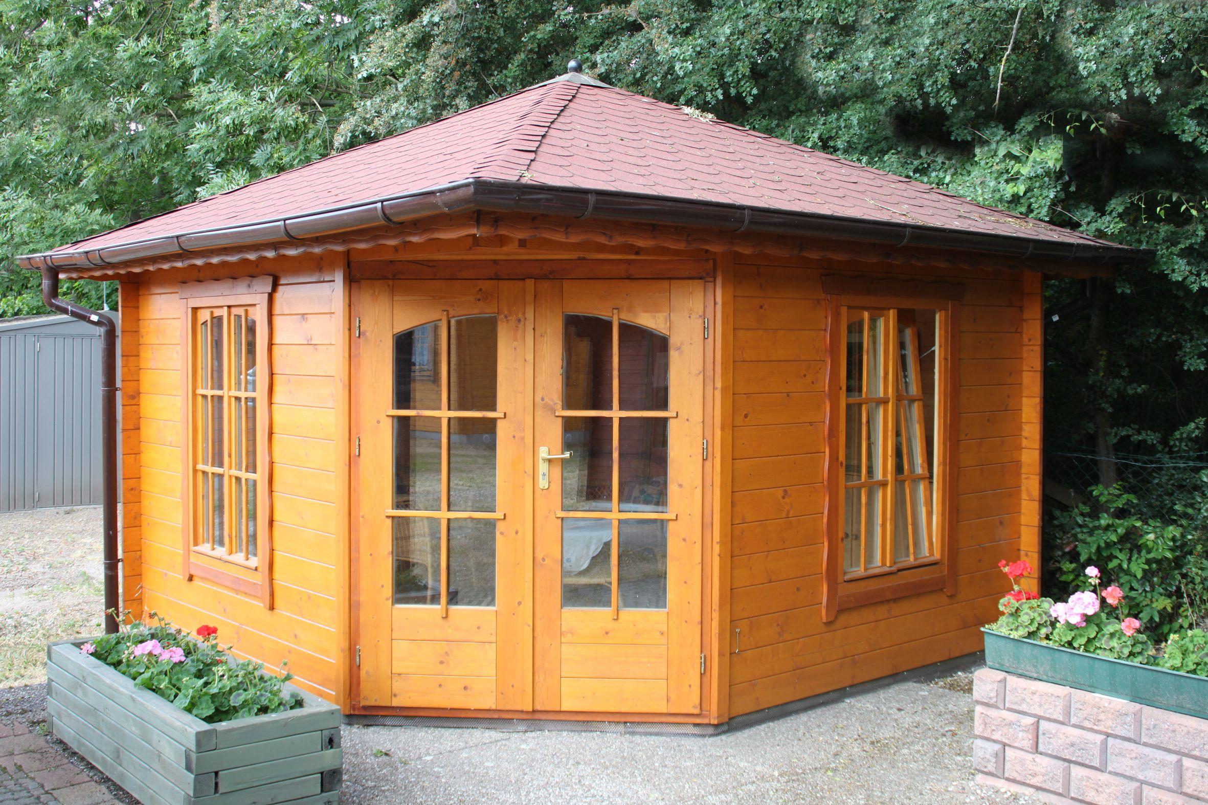 Pin von Grave Holzhäuser auf Gartenblockhäuser Pavillon