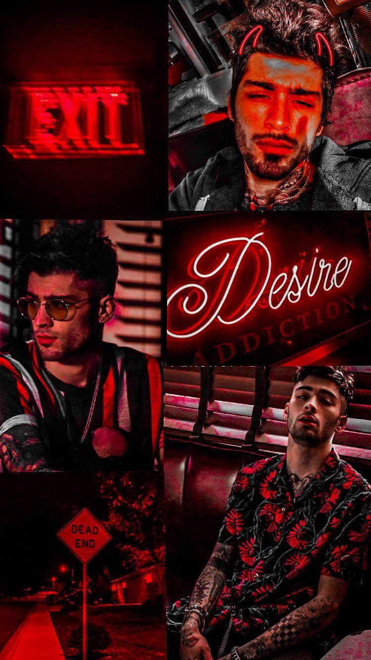 Zayn Malik aesthetic wallpaper red Wallpapers