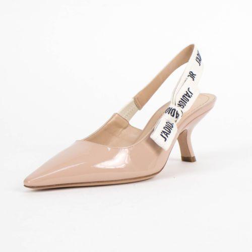 48895328d68 NIB DIOR  J ADIOR  Nude Leather Slingback Kitten Heels Shoes Size 35 5