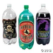 Witches Brew 2-Liter Drink Bottles Labels