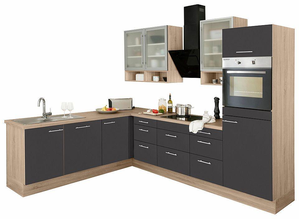OPTIFIT Winkelküche ohne E-Geräte »Aue«, Breite 285\/225 cm cm - küchenblock ohne e geräte