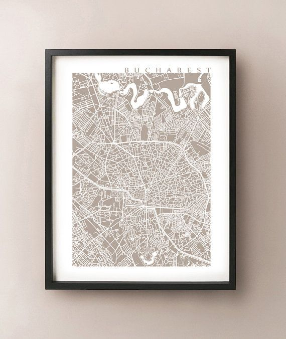 Bucharest Map Print by CartoCreative on Etsy, $20.00