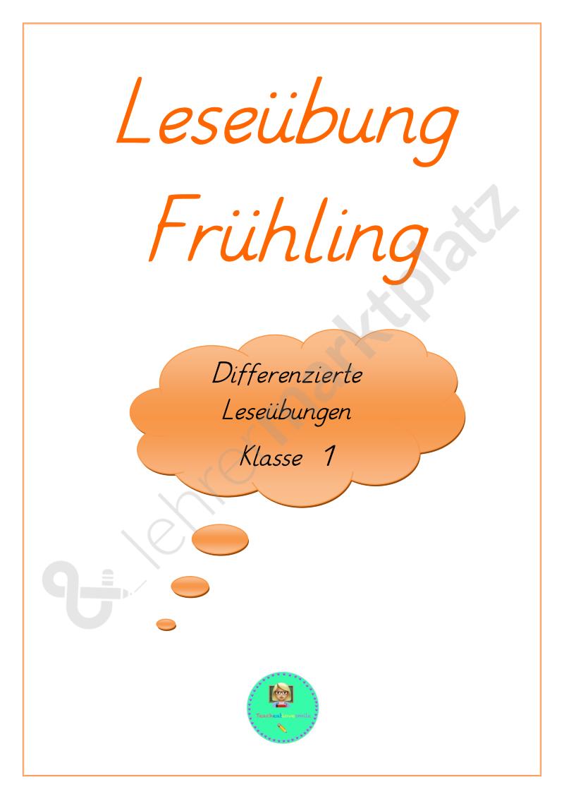 Leseübung Frühling 1 Klasse Differenziert Daz Daf Deutsch