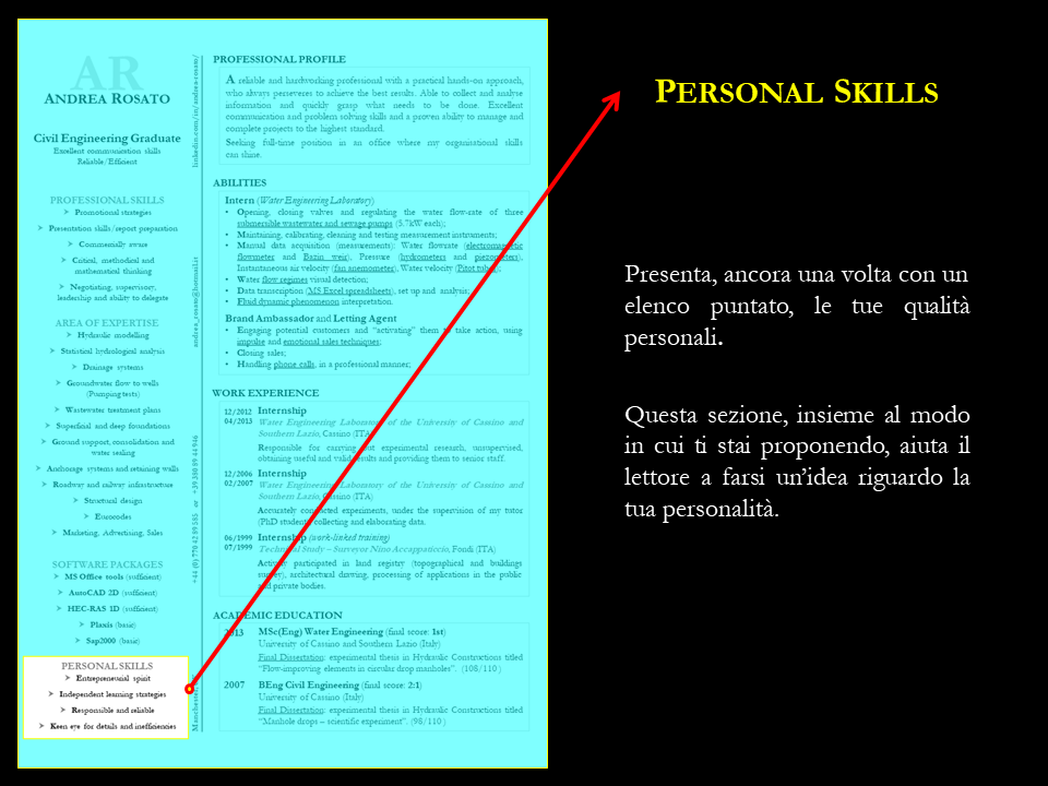Personal skills CV-RESUME | SIX Personal branding | Pinterest ...