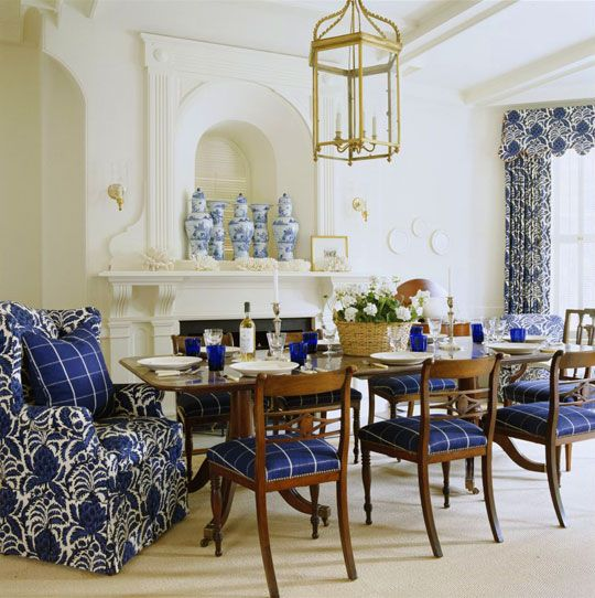 Beautiful Rooms Decorated In Blue And White  Traditional Home® Dr Cool Blue White Dining Room Decorating Inspiration