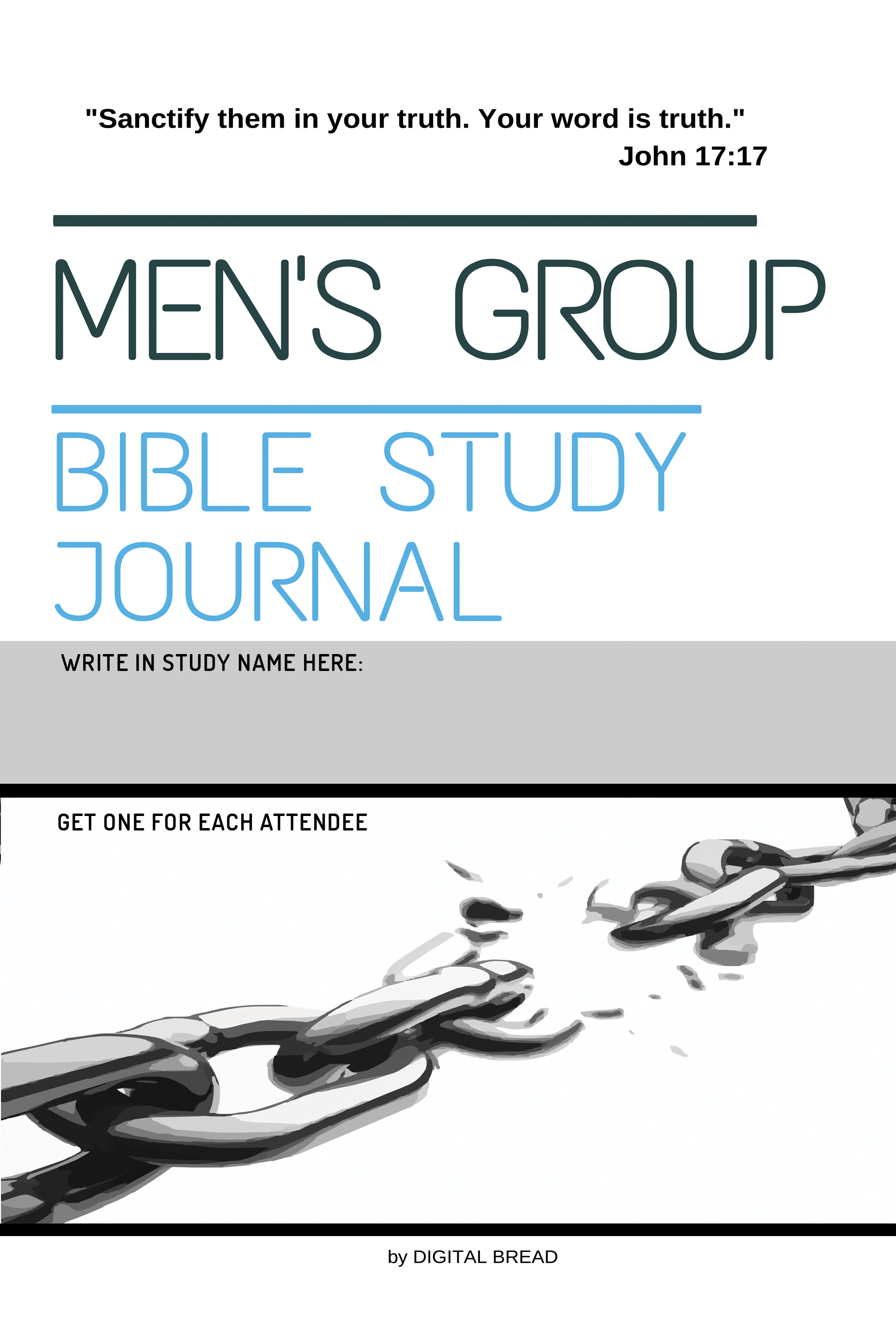 MEN'S GROUP Bible Study Journal: