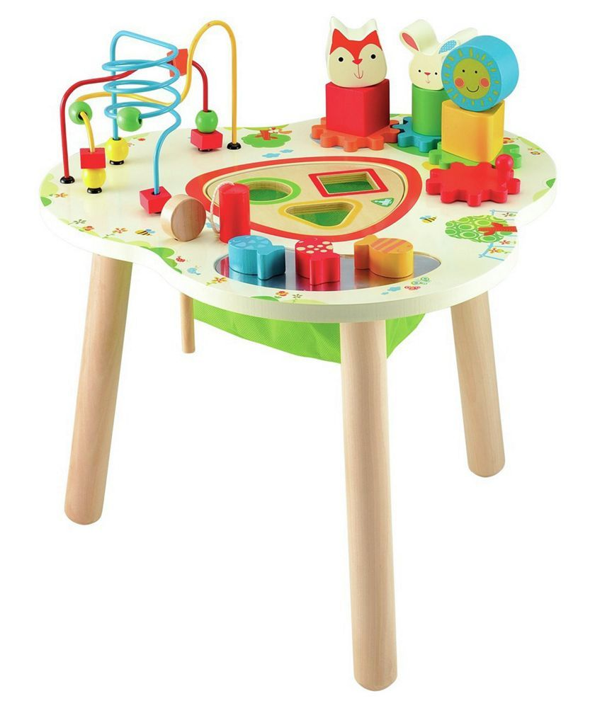 Early Learning Centre Wooden Activity Table At Argos Co Uk