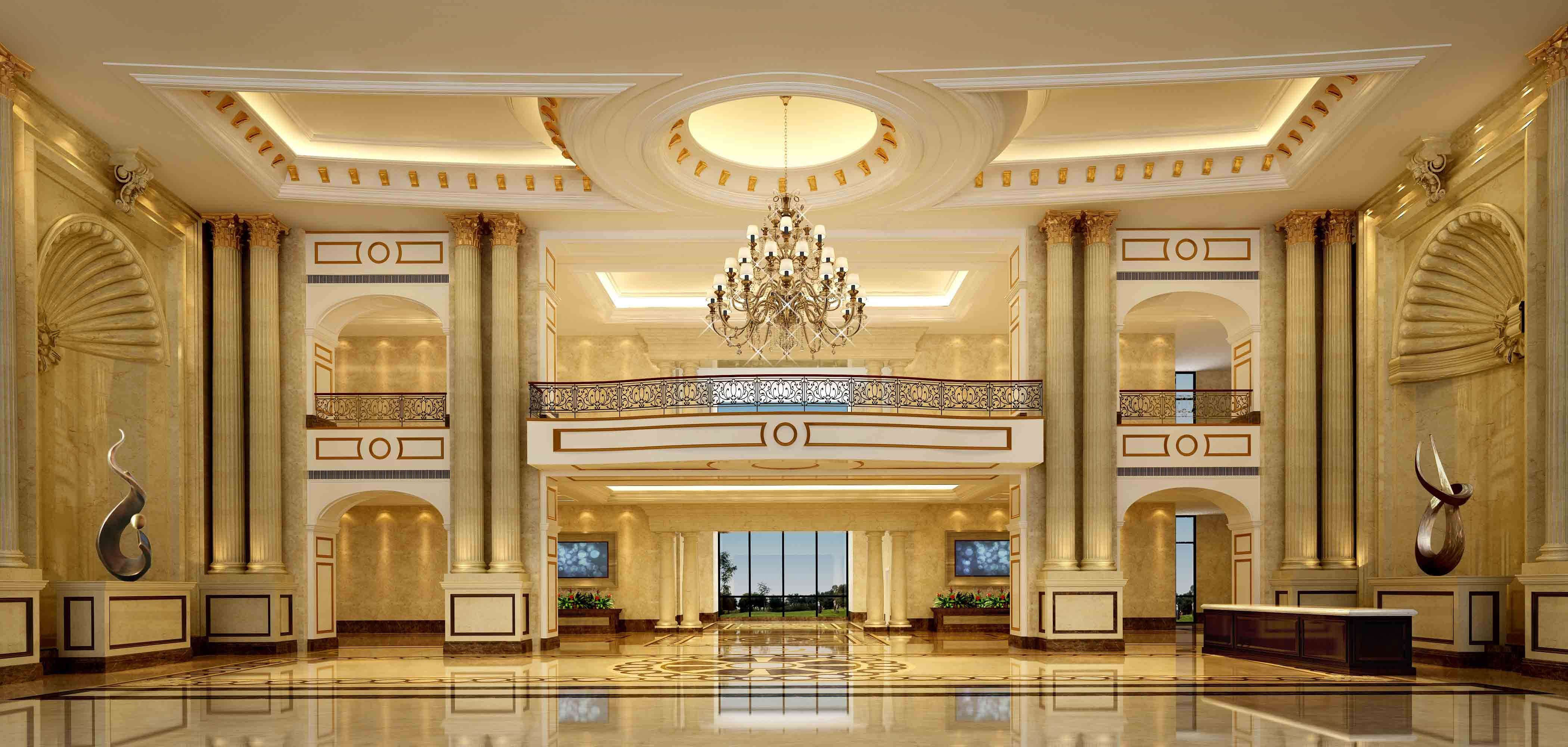 Luxury Lobby 3d Model Lobbies Hall And Luxury