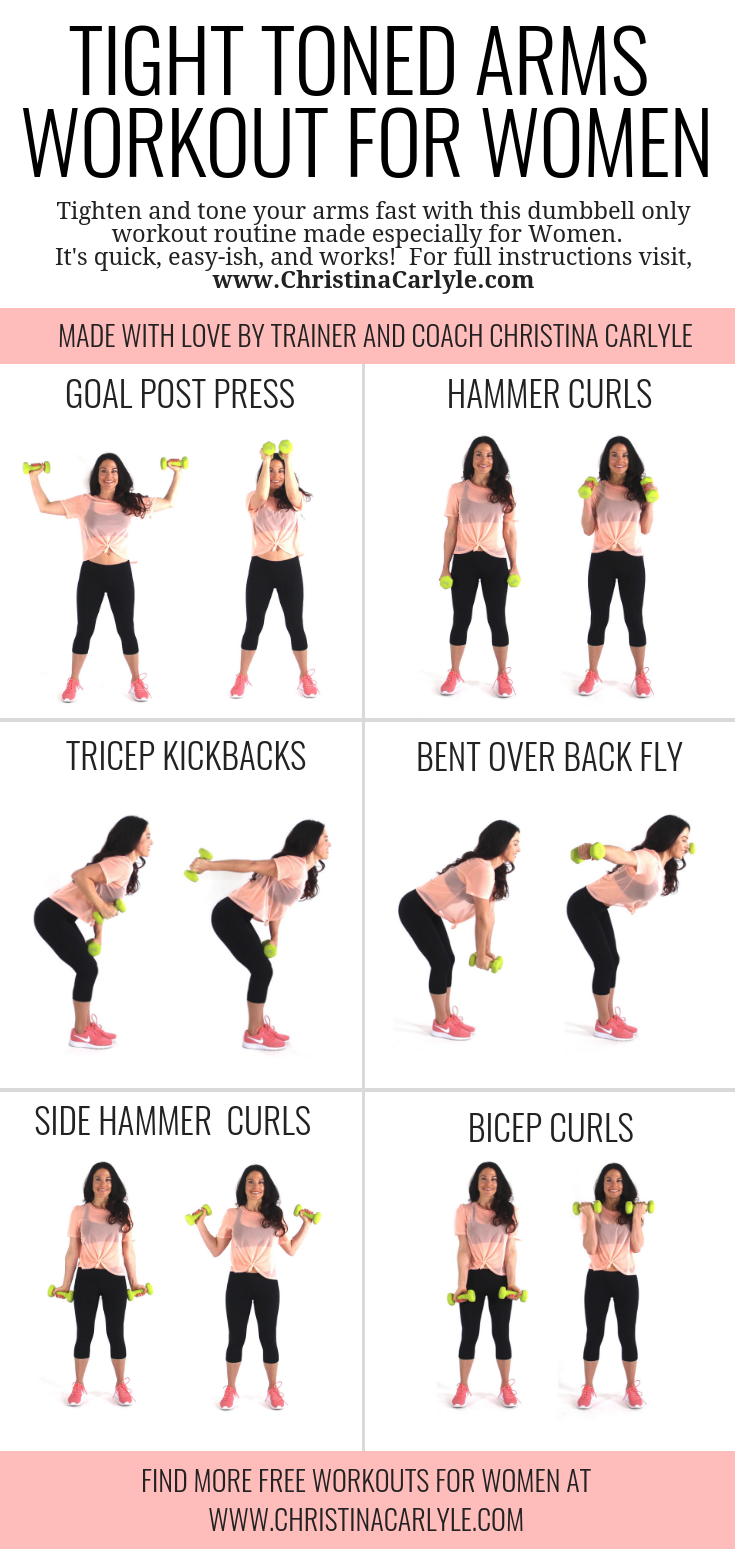 20 Minute Arm Workout For Women That Want Tight Toned Arms