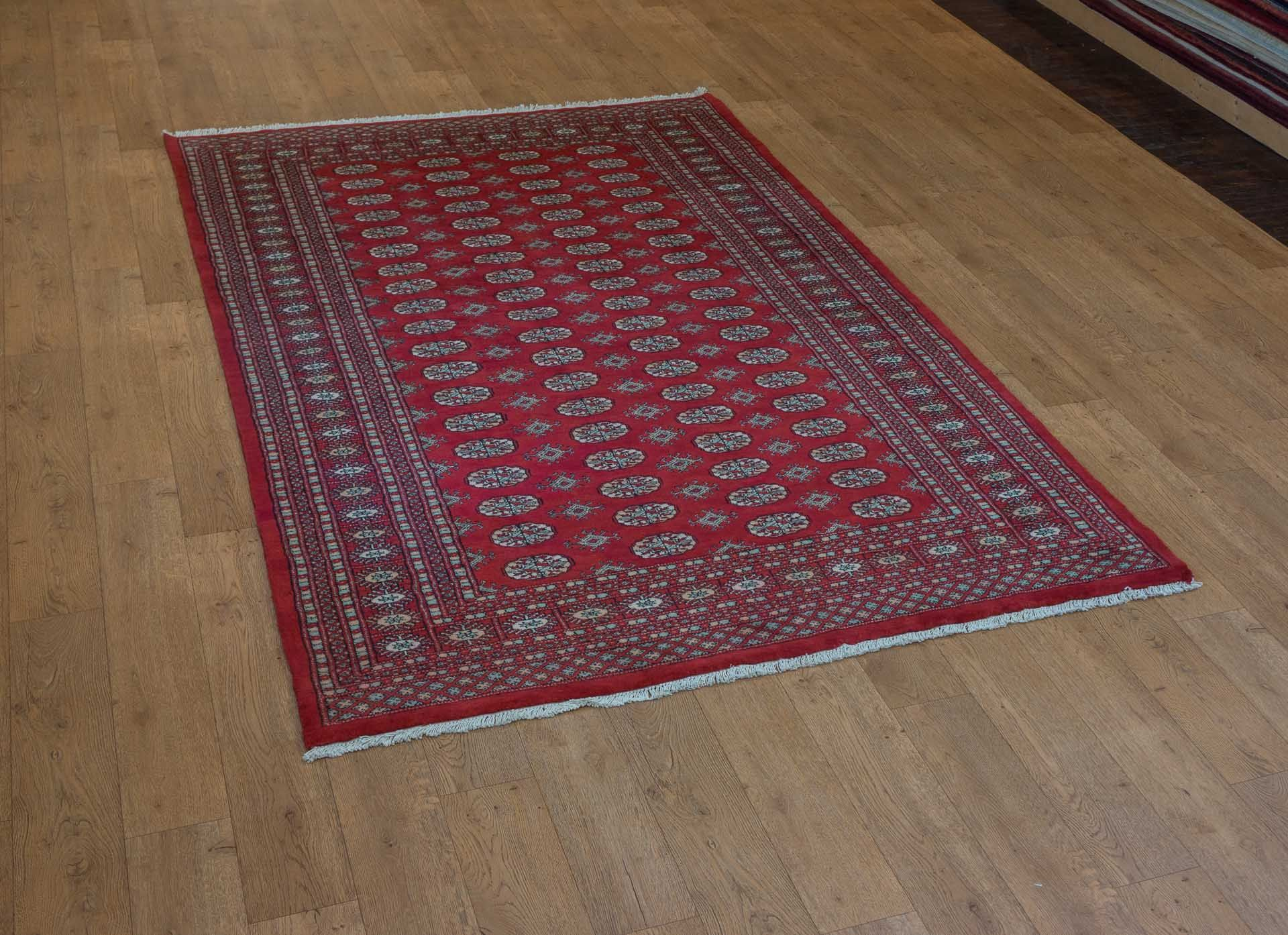 Hand Knotted Bokhara Rug From Pakistan Length 272 0cm By Width