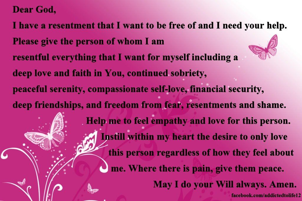Printable Worksheets resentments worksheets : Resentment prayer via addicted to life | Faith, Creative and ...