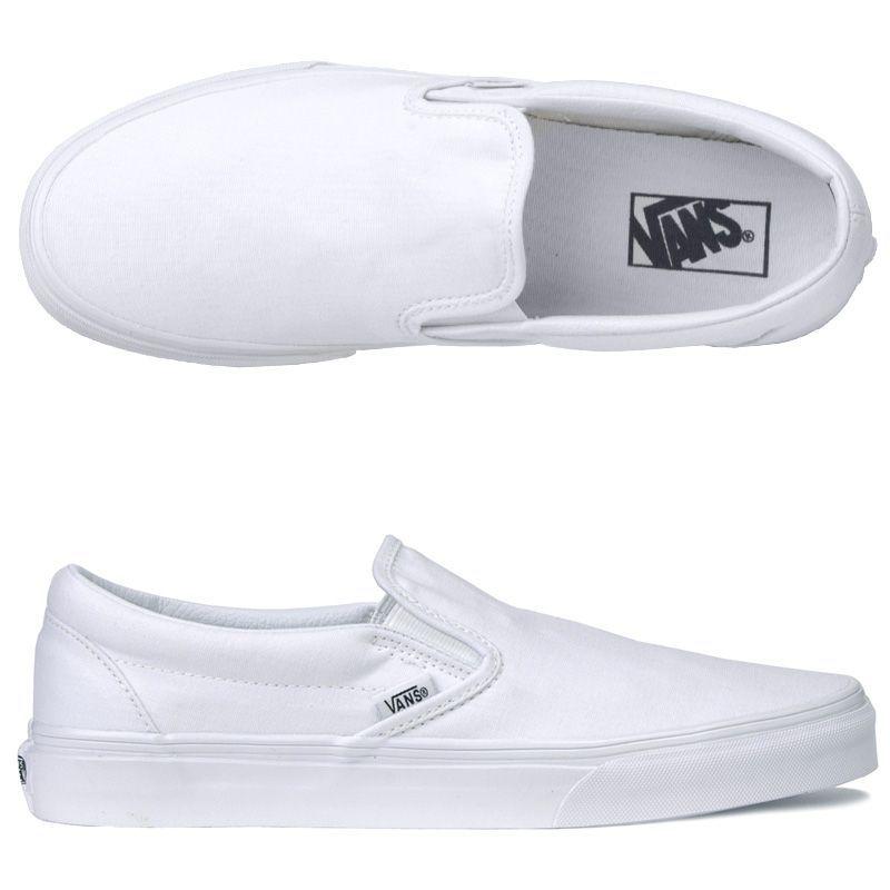 vans blancas slip