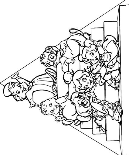 Alvin and the Chipmunks Coloring Pages | Coloring pages | Pinterest ...