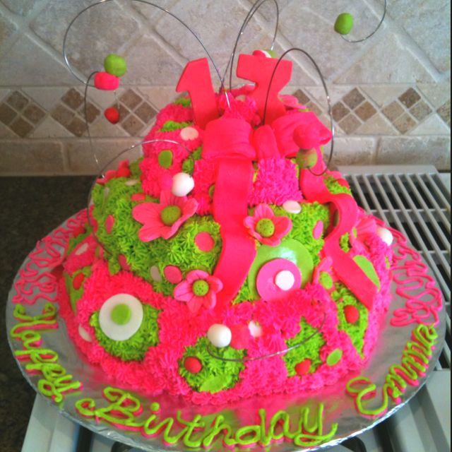 Funky 13th Birthday Cake Icing And Gum Paste Cakes Pinterest