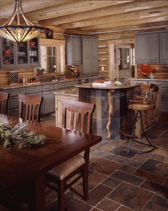 Cabin Kitchen Cabinets: Mum, I Like This Floor. And The Idea Of Tiling The Front