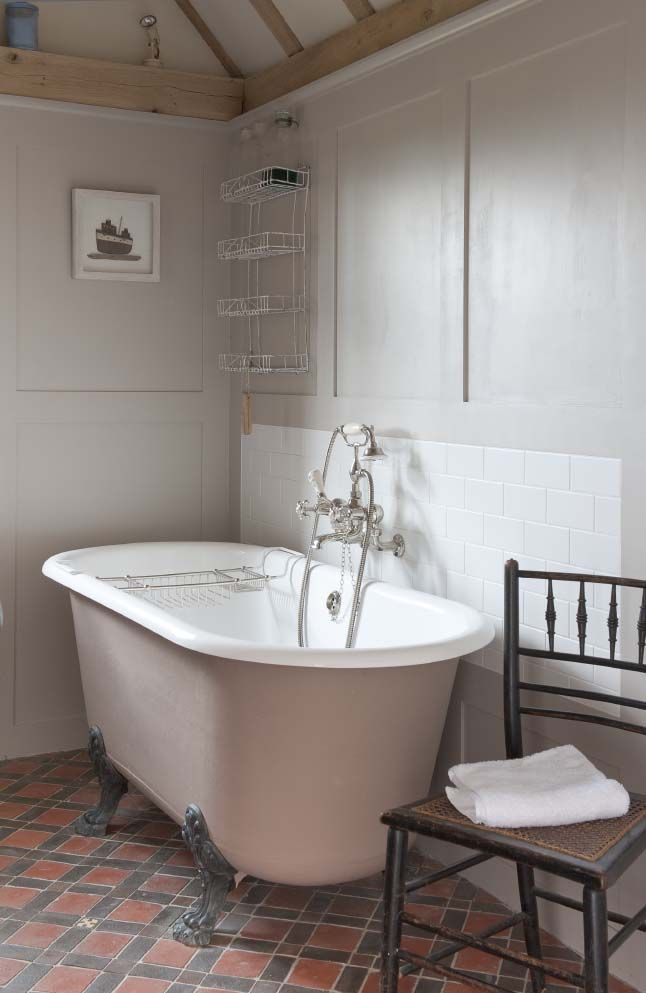 Rustic Bathroom Terracotta Floor Tiles Grey And Pink Bathroom Flooring Urban Interiors Interior
