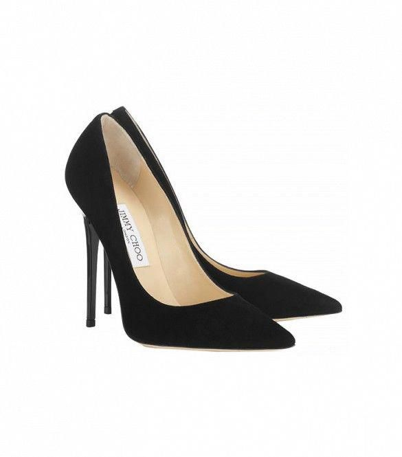 5cef2403381 17 Black Heels for Any Occasion and Every Budget via  WhoWhatWear    Jimmy  Choo Anouk Suede Pointy Toe Pumps...similar to these size 8
