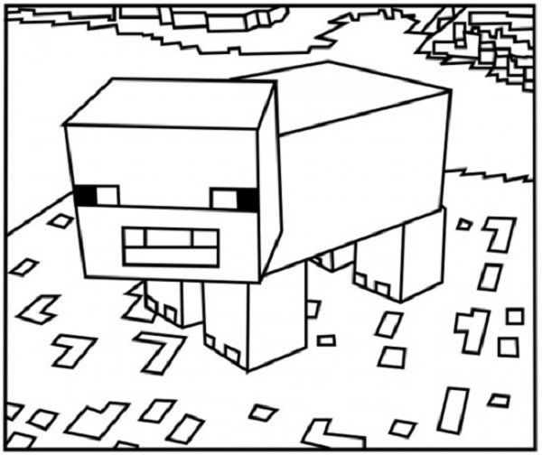 Minecraft Animal Coloring Pages Kids Rhpinterest: Minecraft Animal Coloring Pages At Baymontmadison.com