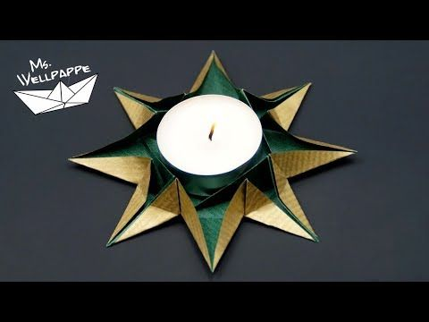 How to make an Origami Star Candle Holder - Paper Stars Tutorial