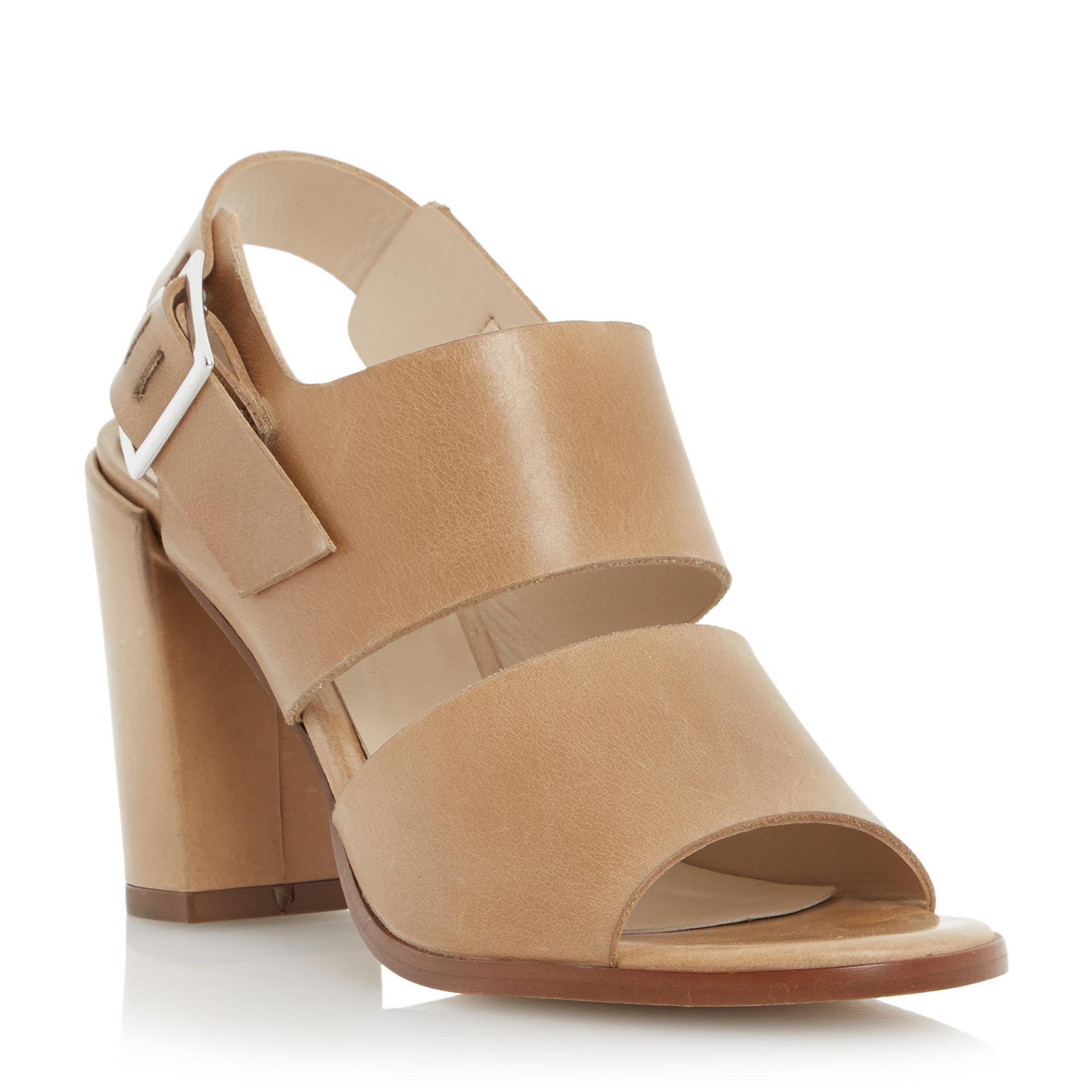 93947625eb1 DUNE LADIES JAMEY - Front Strap Block Heel Sandal - nude