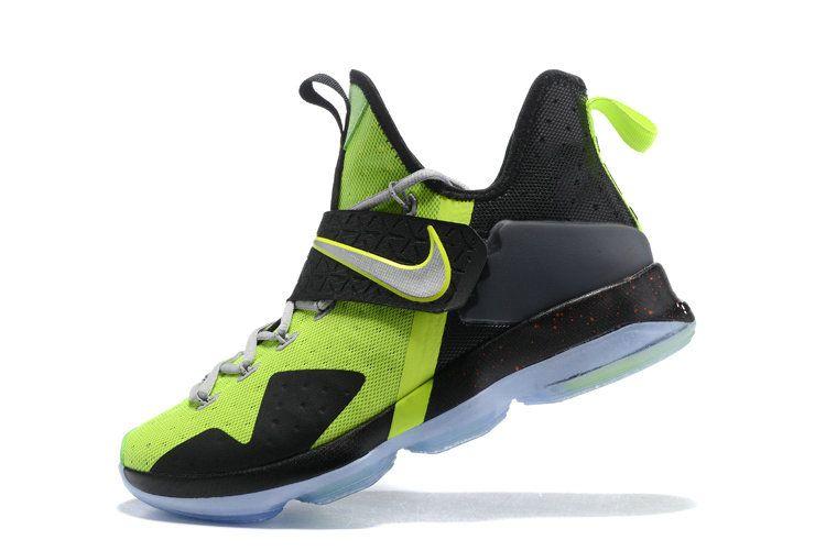 official photos 336ec 8ef81 Latest LBJ Sneakers Cheap Flash Lime Black Size US 7 7.5 9 10.5 13 LeBron  14 XIV