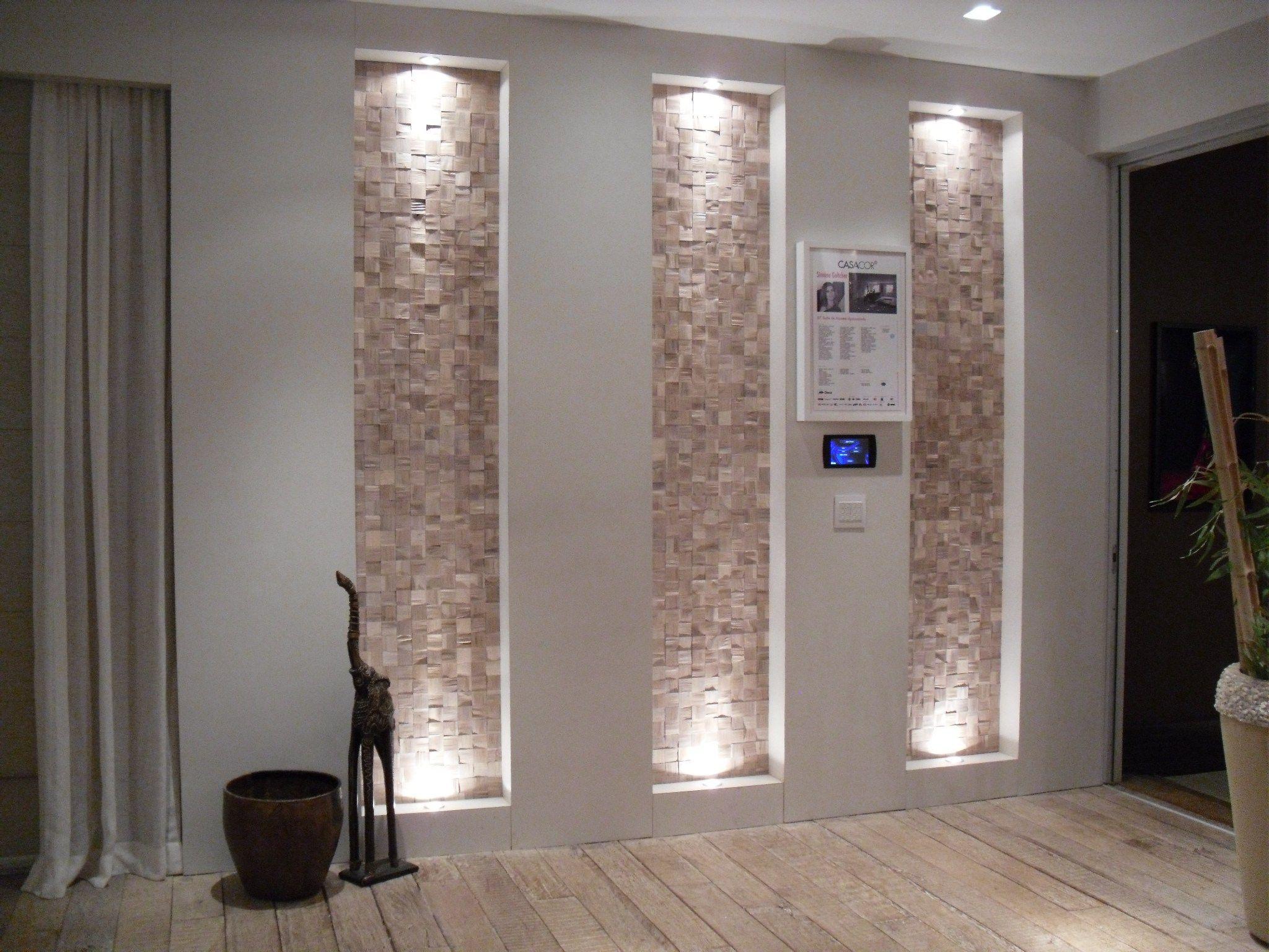 Nicho rasgo parede ilumina ao decora ao home pinterest - Iluminacion escaleras interiores ...
