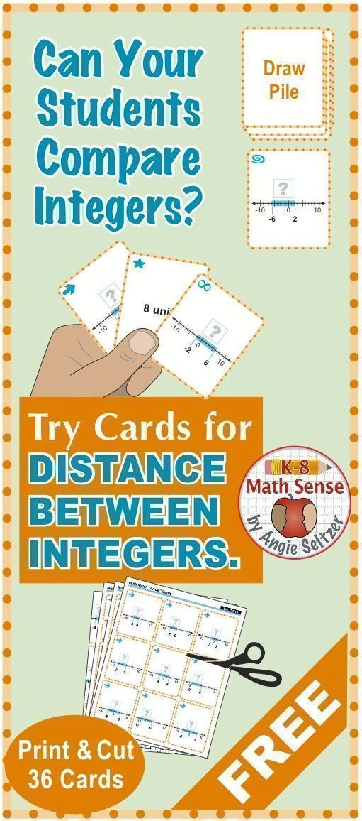 FREEBIE math cards provide fun practice with #distance between ...