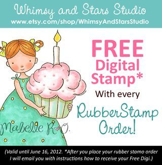 Free Digital Stamp with purchase of Rubber Stamp Set. Whimsy and Stars Studio. Valid til 6/16/12. http://whimsyandstarsstudio.typepad.com/blog/2012/05/cute-rubber-stamps.html