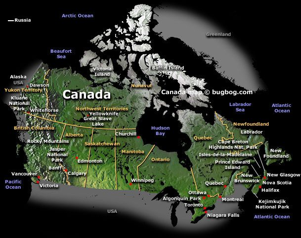 Map of Canada  canada  Pinterest  Scenery and Buckets