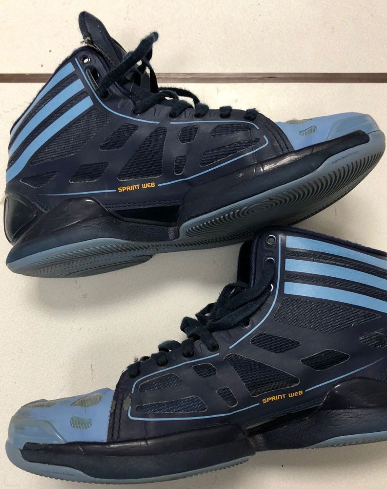 79f6d62a4688 Men s Adidas Sprint Web Basketball shoes Size 8.5 Navy Blue  fashion   clothing  shoes