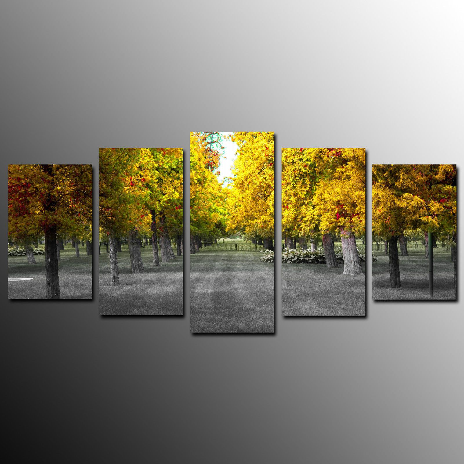 Canvas Print Wall Art Canvas Painting For Home Decor Yellow Trees ...