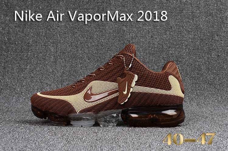 9e177d0927ff5 Nike 2018 Nike air Vapor MAX 2018 KPU Running Men Brown Beige White 40-47