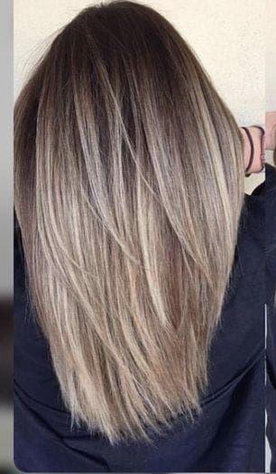 Haare balayage blond glatte Balayage Hair